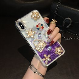 iphone 3d big case Australia - with Tempered glass,iphone 11 case iphone 11 pro max case Big bling stones pearl Crystal Diamonds Rhinestone 3D designer phone cases
