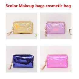 Makeup bags cosmetic bag letter Hologram Laser Cosmetic bag Make Up bags Large capacity Storage waterproof wash tolitery bag HOT on Sale