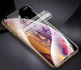 iphone i6s NZ - 10D full glued screen protector on the Soft film Cell Phone For S9 S10 S20 i6s i7s i8 plus Full Cover Screen Hydrogel Film (Not Glass)