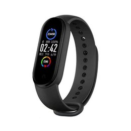 ingrosso android vs iphone-Pressione Donna Bambino nuova M5 intelligente Orologio Bluetooth chiamata Smartwatch Uomini Bracciale Cuore Rate Monitor sangue per iPhone Android VS M3 M4
