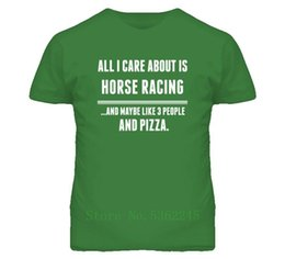 t sport racing UK - All I Care About Is Horse Racing Sports T Shirt Printing Tshirt T Shirt Breathable Homme Men's T-Shirt Plus Size S-5xl Plus Size