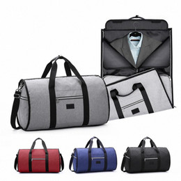 large hand luggage bag UK - Waterproof Travel Bag Mens Garment Bags Women Travel Shoulder Bag 2 In 1 Large Luggage Duffel Totes Carry On Leisure Hand d9Ss#