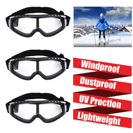 3PACK Skiing UV Protective Goggles Sport Sunglasses Winter Snow Dustproof Glasses Windproof Eyeglasses Sunglasses Outdoor Riding Sunlasses