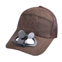 woman fans Canada - USB Charging Summer Fan Cooling Baseball Cap Hat Breathable Shade Sunscreen Hat Men Women Snapback Hats *1 Y200714