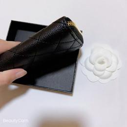venda por atacado Moda clássico preto zipper mão tomar c bolsa cartão pacote design carteiras de metal titular de cartão de metal para senhoras recolher itens de luxo vip presente