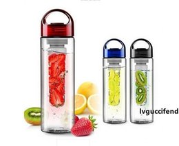 tritan plastic UK - Wholesale - sports fruit water bottle Tritan plastic cup outside sport lemon emperorship fruit cup