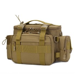 camouflage pole NZ - Camouflage running multifunctional shoulder satchel backpack waterproof fish pole satchel shoulder bag Luya backpack fishing bag
