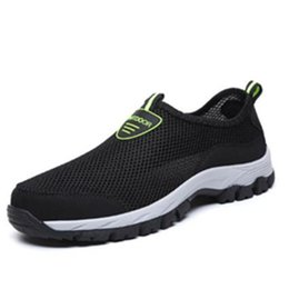 shoes for water sports NZ - 2020 cheap Mens Shoes Breathable Slip-On Shoes Outdoor Water Loafers Summer Mesh Sneakers Flat for Sports Loafers Walking