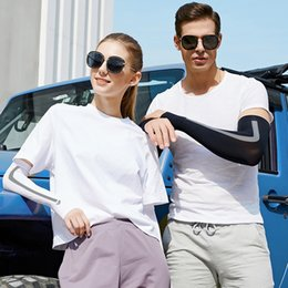 wholesale uv protective arm sleeves Australia - 0Vzvz Ice riding sleeve summer men's and women's sun outdoor sports Protective outdoor sports protection sleeve UV protection arm running si