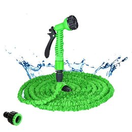 expandable magic hose Canada - 50-200FT Hot Expandable Magic Flexible Garden Water Hose for Car Hose Pipe Plastic Hoses Garden Set To Watering with Spray Gun