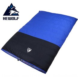 sleeping bags double winter Canada - Male Wolf outdoor adult double down sleeping bag high quality split thickened warm autumn and winter duck down sleeping bag