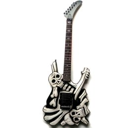 skull electric guitars UK - New brand electric skull guitar by handcraft in black