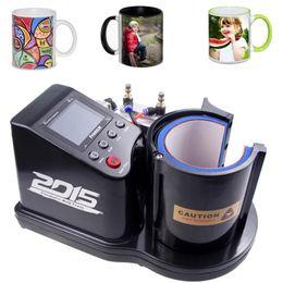 envío libre Taza de la aduana de la impresora automática neumática ST-110 sublimación calor de la taza Máquina de la prensa en venta