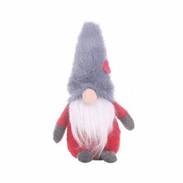 handmade christmas gifts kids NZ - Christmas Handmade Swedish Gnome Santa Standing Plush Doll Ornaments Xmas Holiday Home Party Decor Kids Gift X4YD u2LJ#