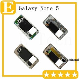 middle housing for note Australia - 50Pcs Middle Frame For Samsung Galaxy Note 5 N920V N920F VS N920T N920P N920A Middle Bezel metal Back housing chassis Camera Lens DHL