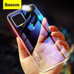 baseus iphone case Canada - Baseus Case 11 Pro Coque Ultra Thin Soft TPU Transparent Clear Silicone Back Cover For iPhone Xs Max XR Capin