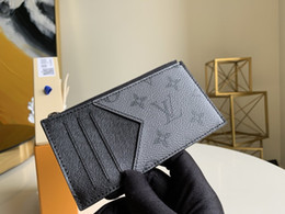 Wholesale best credits cards for sale – custom 2020 best quality Designer wallet with box Luxury purse with box Genuine Leather Mens wallet Women card holder men credit card wallet M69533