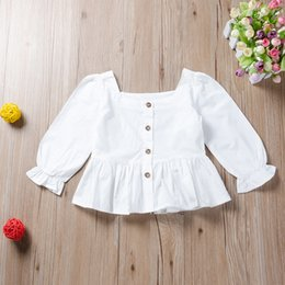 white shorts for girls NZ - chifuna 2-6Y White Blouse Shirts For Girls Clothing Kids Blouse For Baby Shirts For Children Blouse Girls Tops Clothes Baby CX200720