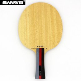 paddle tennis UK - Table Tennis Blade SANWEI EVEN 7 DEFENSE 7 Plywood for Defensive Pips-long  Pips-outpong Racket Bat Paddle