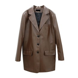 female brown leather jacket NZ -