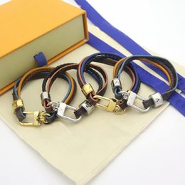 Wholesale Hot sale Fashion Style Lady Women Three Deck Prints Flower Plaid Leather Cord Bracelet Bangle With 18K Gold Metal Accessories 4 Color
