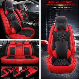 Deluxe Full Surround Car Seat Cover PU Leather Full Set For Interior Accessories on Sale
