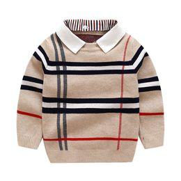 2020 autunno inverno Ragazzi invernali maglione a strisce maglione per bambini a maniche lunghe pullover per bambini maglioni per bambini vestiti per ragazzi LJ200831 in Offerta