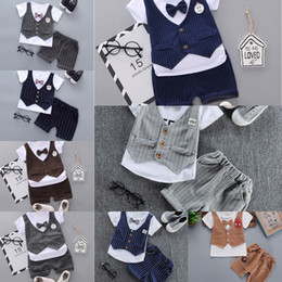 long sleeve baby vests NZ - ZlMxv 0 Summer 1 boy's dress set 2 baby British vest 3 infant suit sleeve small short 4 trendy Vest one-year-old Formal dress