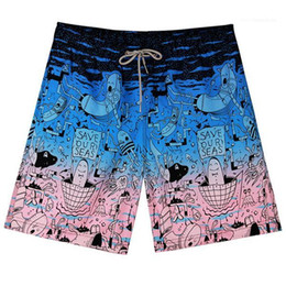 polyester trunks Australia - Floral Men's Swimwear Loose Swimming Trunks Mens Beach Swimsuits Plus Size Male Swiming Trunks Quick Dry Mens Swimming Shorts