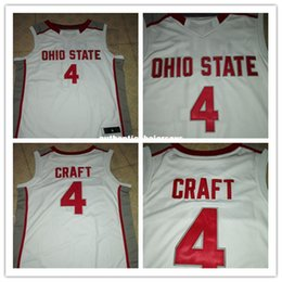petal crafts Australia - Cheap Ohio State Buckeyes #4 Aaron Craft Retro Throwbacks Basketball Jersey red white stitched name and number any size XXS-6XL