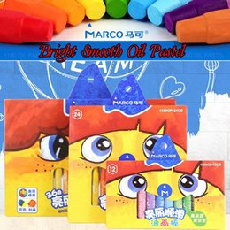 painting pastels UK - Marco Crayons Pencils Set 12 24 Oil Pastel For Children Painting Supplies Sticks Kids Gift Drawing School Stationery NQSg#