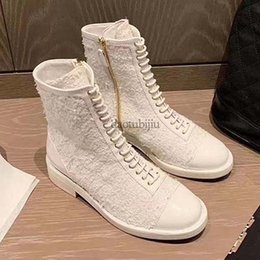 Autumn winter new style color matching boots simple Martin boots all match chunky heel loe heel small fragrance side zipper women boots 588