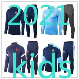 2020 2021 kits de formation Survêtement enfant football enfants de football 20 21 vêtements garçons survêtements de sport survetement chandal Survêtement pied en Solde