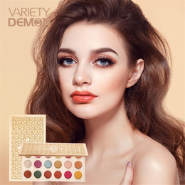 eye shadow 18 colors 2021 - VARIETY DEMON 18 Colors Glitter Eyeshadow Palette Matte Pearlescent Eye Shadow Makeup Warm Color Waterproof Cosmetics TS