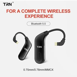 x6 cell phones UK - cgjxs Trn Bt20 Bluetooth V5 .0 Ear Hook Connector Earphone Bluetooth Adapter Mmcx  2pin For Se535 Ue900 Trn V80  V10  V20  X6 T6190617