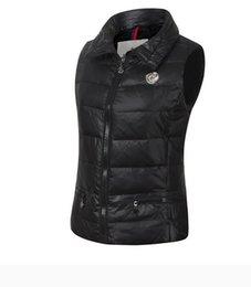 outono inverno coletes das mulheres ao ar livre para baixo do colete gola mangas jaqueta quente grossa para baixo jackeOuterwear Coats em Promoção