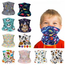 Wholesale Kids Face seamless Mask dustproof Cartoon Neck Gaiter Scarf Windproof Sunscreen child Breathable Bandana for Outdoor Cycling FFA4375
