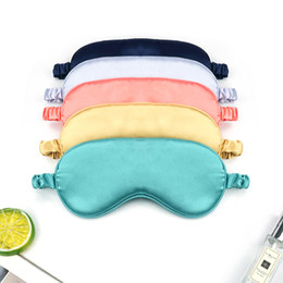 red sleep mask NZ - Travel Eyepatch Nap Imitated Sleep Mask Portable Silk Night Women Blindfold Cover Cfcvp Rest Eye Eye Patch Mask Eye Eyeshade Sleeping Rnxrr