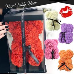 Puppen 25cm Romantische chinesische Valentinstag Geschenke Rose Blumenbären Kreative Große Umarmung Bär Weihnachtsgeschenk im Angebot