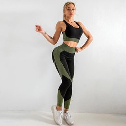 seamless yoga set Australia - SVOKOR Camo Seamless Yoga Set Printed Sports Bra Leggings Gym Clothing for Women Fitness Suits Workout Pants Sportswear