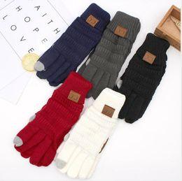 Fashion Lady Gloves Adulto Adulto Hermosa de la moda de punto de dedo completo Mitesn Guantes de la pantalla táctil Envío rápido en venta