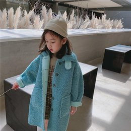Wholesale faux fur lined parka coats for sale - Group buy Children Autumn Winter Coat Lamb Wool Velvet Parkas Baby Girls Faux Fur Warm Coat Thicken Kids Girls Outerwear Clothes K183 Y200831