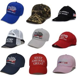 golf tennis sun visors Australia - Baseball Caps Trump Keep America Great Letter Hats Election Embroidered Ball Cap Outdoor Travel Beach Hat Washed Cloth Sun Visor EWC1364#327