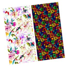 Wholesale 2 Pieces Floral Static Cling Privacy Stained Door Window Film Anti UV Bathroom Decor