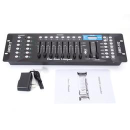 Großhandel Metall Automatische DJ-Controller 192CH DMX512 DJ LED-Stadiums-Licht-Controller (AC 100-240V) Für Moving Head Scheinwerfer Disco Bühnensteuerung