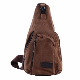 mens canvas shoulder bags UK - Useful Man Chest Sling Crossbody Bag Casual Travel Canvas Messenger Bag Back Chest Bags Mens Shoulder Bolsos fKo2#