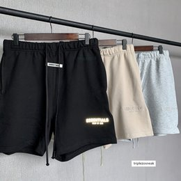 Wholesale G FOG FEAR OF GOD double line ESSENTIALS drawstring reflective embroidered shorts high street cropped pants for men