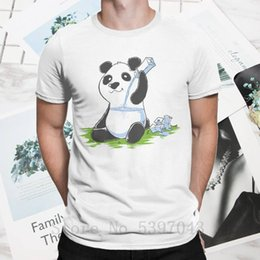 Wholesale funny chinese cartoons for sale – custom Men s T Shirt Panda In My Fillings Funny Round Collar Tee Shirt Cotton Chinese Cartoon Cute Animal T Shirt short sleeve Tops