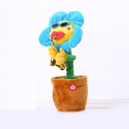 dancing sunflowers Australia - Howplay Electric Toys Singing And Dancing Flowers Sunflowers Playing Saxophone Funny Gifts Plush Music Kids Toys For Children