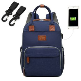 large change bag UK - Baby Diaper Bag With USB Interface Large baby nappy changing Bag Mummy Maternity Travel Backpack for mom Nursing bags